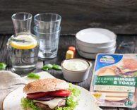 Wegetariański cheeseburger zpieczarką portobello