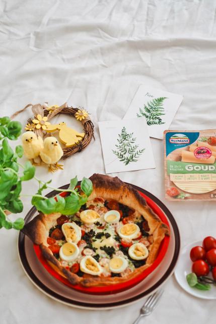 Zapiekanka z serem i jajkiem